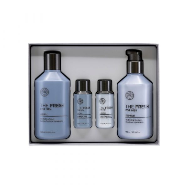 [THEFACESHOP] The Fresh For Men Hydrating Facial Skincare Set_Ensemble de soins Visage Hydratants