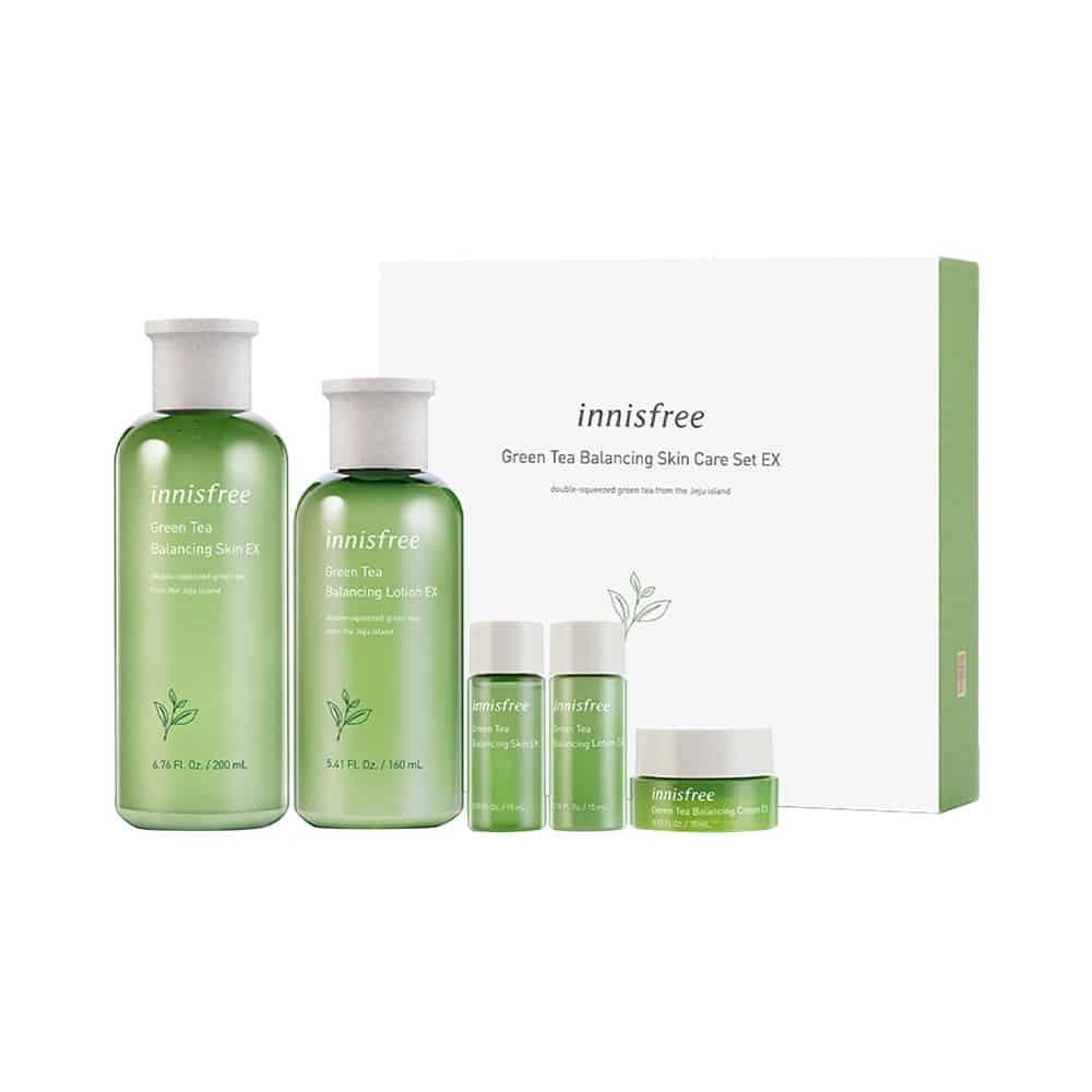 [innisfree] Green Tea Balancing Skin Care Set EX