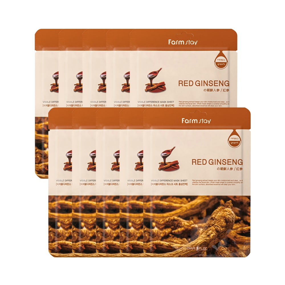 [Farmstay] Visible Difference Mask Sheet Red Ginseng-10sheets
