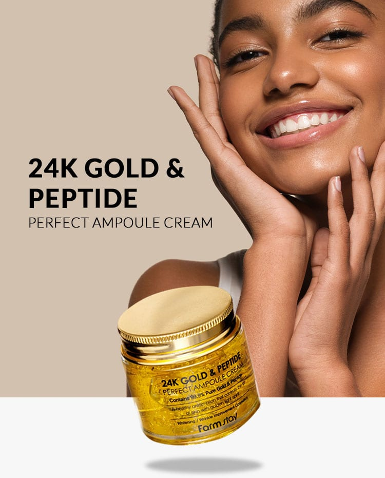 Farm stay 24K Gold & Peptide Perfect Ampoule Cream Package