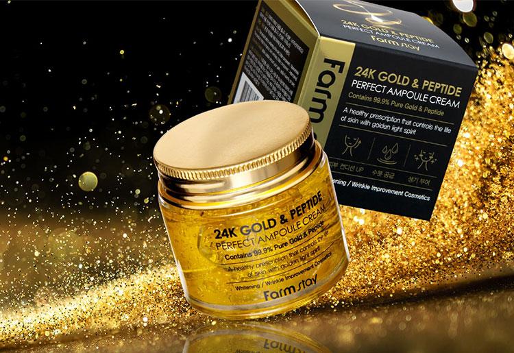 Farm stay 24K Gold Peptide Perfect Ampoule Cream Director Cut