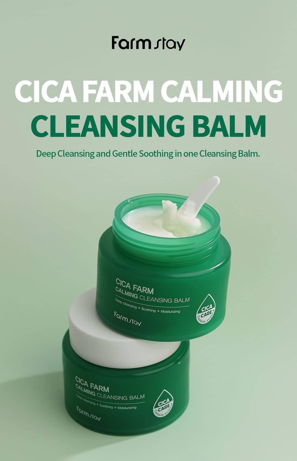Farmstay Cica Farm Calming Cleansing Balm Description image