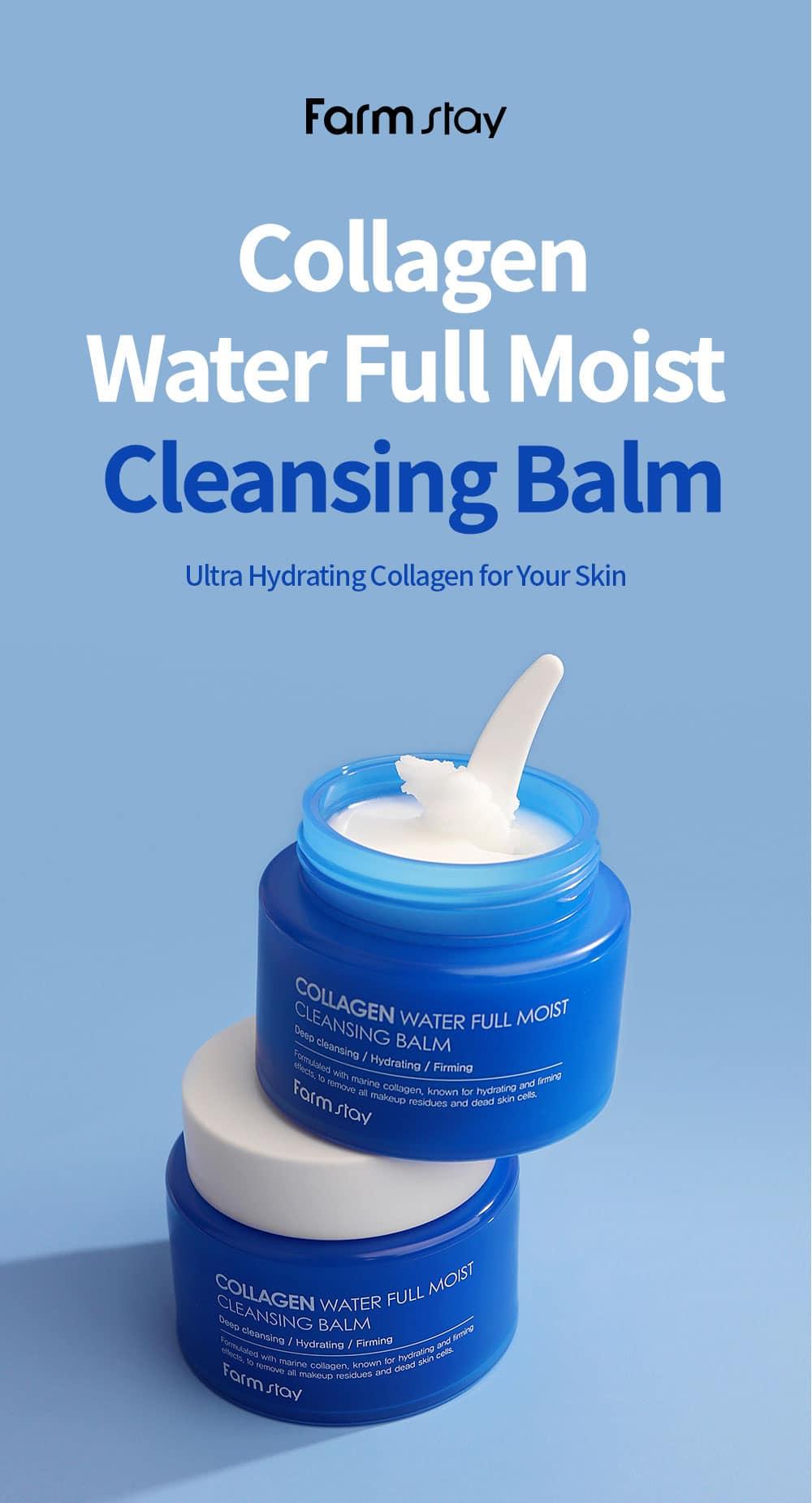 Farmstay Collagen Water Full Moist Cleansing Balm Description image