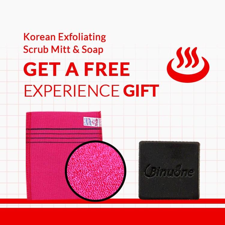 EVENT   EXPERIENCE GIFTS   Korean Exfoliating Scrub Mitt & Soap